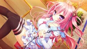 Rating: Safe Score: 60 Tags: chelseasoft cleavage game_cg koi_wa_yumemiru_mouretsu_girl! nae-nae seifuku thighhighs yuunagi_shizuku User: donicila