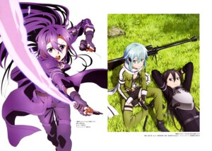 Rating: Safe Score: 23 Tags: armor cleavage gun gun_gale_online hagiwara_hiromitsu kirito sinon sword sword_art_online takata_akira User: drop