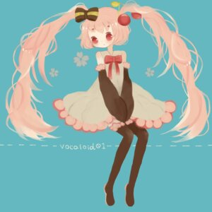Rating: Safe Score: 7 Tags: hatsune_miku roromi sakura_miku thighhighs vocaloid User: Radioactive