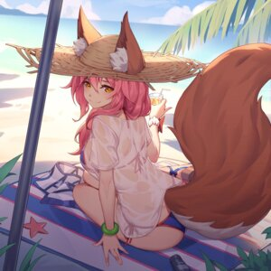 Rating: Safe Score: 80 Tags: animal_ears bikini caster_(fate/extra) fate/extra fate/grand_order fate/stay_night nian see_through swimsuits tail User: Mr_GT