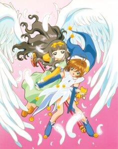 Rating: Safe Score: 4 Tags: card_captor_sakura daidouji_tomoyo dress fly_(card_captor_sakura) kerberos kinomoto_sakura madhouse tagme weapon wings User: Omgix