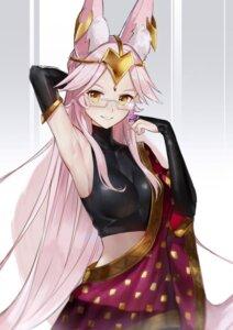 Rating: Safe Score: 35 Tags: animal_ears duan_henglong fate/grand_order kitsune megane see_through tail tamamo_(assassin) User: Mr_GT