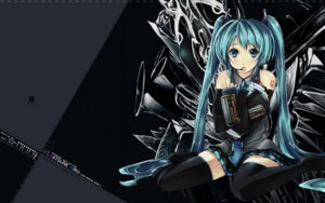 Rating: Safe Score: 15 Tags: akacia ginichi hatsune_miku tattoo thighhighs vocaloid wallpaper User: bunnygirl
