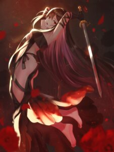 Rating: Questionable Score: 58 Tags: ass consort_yu_(fate/grand_order) dolce_(dolsuke) fate/grand_order no_bra sword User: Mr_GT