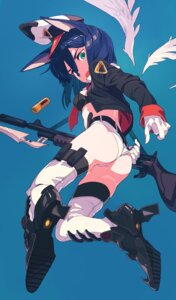 Rating: Safe Score: 44 Tags: animal_ears ass bra gun heels kamameshi_gougoumaru open_shirt pantsu thighhighs wings User: nphuongsun93