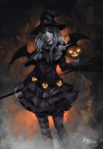Rating: Safe Score: 29 Tags: baka_(mh6516620) halloween thighhighs wings witch User: Noodoll