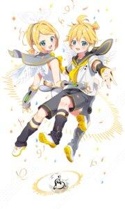 Rating: Safe Score: 10 Tags: arami_o_8 headphones kagamine_len kagamine_rin seifuku vocaloid wings User: charunetra