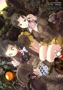 Rating: Safe Score: 11 Tags: cleavage excel_(artist) fukuda_(girls_und_panzer) girls_und_panzer megane nishi_kinuyo skirt_lift tamada_(girls_und_panzer) uniform User: drop