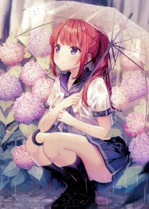 Rating: Safe Score: 108 Tags: bra rosuuri see_through seifuku umbrella wet_clothes User: Spidey