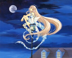 Rating: Safe Score: 17 Tags: chii chobits clamp dress fixed thighhighs wings User: MosquitoJack
