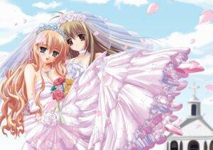 Rating: Safe Score: 30 Tags: cleavage dress itsukushima_takako miyanokouji_mizuho otome_wa_boku_ni_koi_shiteru shinbo_tamaran tamaranchi trap wedding_dress User: Davison