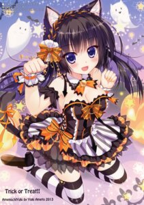 Rating: Safe Score: 138 Tags: ame_to_yuki animal_ears cleavage halloween heels lolita_fashion nekomimi see_through tail thighhighs User: Radioactive
