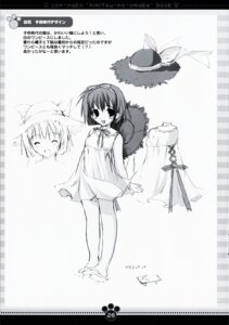 Rating: Safe Score: 5 Tags: character_design kawahara_touka konneko marmalade mikeou monochrome User: noirblack