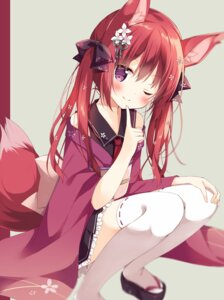 Rating: Safe Score: 146 Tags: animal_ears detexted hoshi kitsune lolita_fashion tail thighhighs wa_lolita User: HY_Little