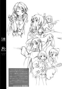 Rating: Safe Score: 6 Tags: 5_nenme_no_houkago guitar kantoku megane monochrome seifuku sketch User: Hatsukoi