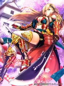 Rating: Safe Score: 52 Tags: armor beniimo_danshaku cleavage no_bra sengoku_kishin_valkyrie sword thighhighs User: Mr_GT