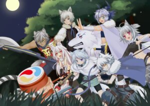 Rating: Safe Score: 7 Tags: animal_ears ookami_ryuu pantsu sarashi User: fairyren