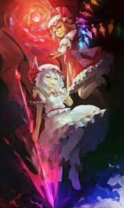 Rating: Safe Score: 16 Tags: bloomers flandre_scarlet heels remilia_scarlet touhou weapon wings User: Mr_GT