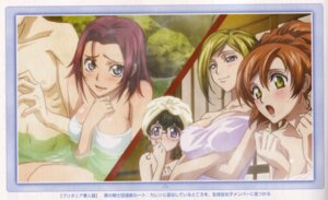 Rating: Questionable Score: 30 Tags: breast_hold cleavage code_geass kallen_stadtfeld milly_ashford nina_einstein onsen shirley_fenette towel User: Radioactive