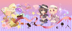 Rating: Safe Score: 19 Tags: chibi dress kaenuco maribel_hearn neko pantyhose thighhighs touhou usami_renko User: charunetra