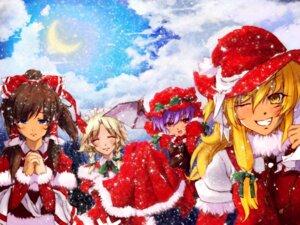 Rating: Safe Score: 8 Tags: christmas flandre_scarlet hakurei_reimu kirisame_marisa mefix remilia_scarlet touhou User: yumichi-sama