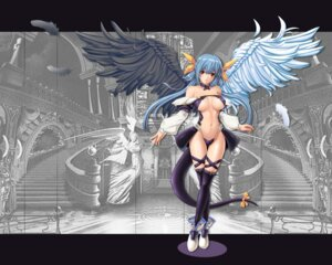 Rating: Questionable Score: 54 Tags: dizzy guilty_gear only_haruka tail thighhighs underboob wallpaper wings User: xwwstcwps