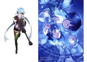 Rating: Safe Score: 21 Tags: abec gun gun_gale_online sinon sword_art_online thighhighs User: drop