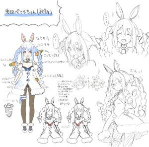Rating: Safe Score: 9 Tags: animal_ears bunny_ears character_design hololive pantsu pantyhose sketch usada_pekora yuuki_hagure User: zyll