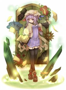 Rating: Safe Score: 22 Tags: patchouli_knowledge stockings thighhighs touhou uruugekka User: Radioactive