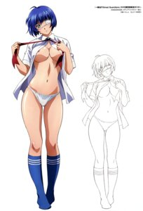 Rating: Questionable Score: 78 Tags: areola breasts eyepatch ikkitousen ikkitousen~great_guardians~ line_art no_bra open_shirt pantsu rin_sin ryomou_shimei seifuku undressing User: YamatoBomber