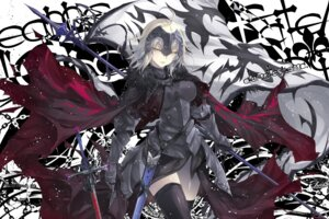 Rating: Questionable Score: 37 Tags: armor fate/grand_order jeanne_d'arc jeanne_d'arc_(alter)_(fate) kobayashi_yuukou sword thighhighs weapon User: sym455
