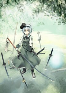 Rating: Safe Score: 32 Tags: konpaku_youmu nanaroku sword touhou User: Mr_GT