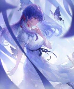 Rating: Safe Score: 35 Tags: artist_revision crystalherb dress fate/stay_night fate/stay_night_heaven's_feel matou_sakura skirt_lift User: Dreista