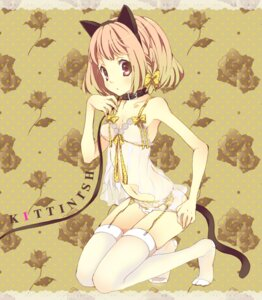 Rating: Questionable Score: 47 Tags: animal_ears cleavage garter_belt lingerie maki_(makimaki) nekomimi panty_pull stockings tail thighhighs User: blooregardo