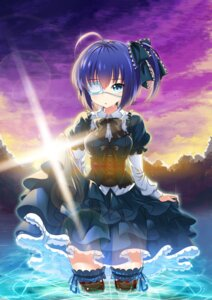 Rating: Safe Score: 60 Tags: chuunibyou_demo_koi_ga_shitai! eyepatch gothic_lolita kikimi lolita_fashion see_through skirt_lift takanashi_rikka thighhighs wet User: Mr_GT