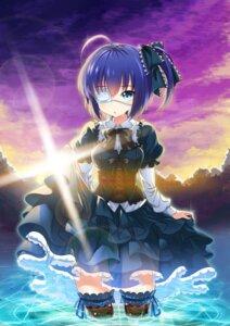 Rating: Safe Score: 64 Tags: chuunibyou_demo_koi_ga_shitai! eyepatch gothic_lolita kikimi lolita_fashion see_through skirt_lift takanashi_rikka thighhighs wet User: Mr_GT