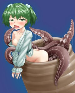 Rating: Explicit Score: 35 Tags: ass bondage bottomless breasts harunoha kisume loli nipples no_bra open_shirt tentacles touhou User: Mr_GT