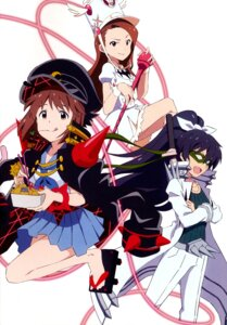 Rating: Safe Score: 27 Tags: cosplay dress ganaha_hibiki hagiwara_yukiho jakuzure_nonon kill_la_kill mankanshoku_mako minase_iori sanageyama_uzu seifuku the_idolm@ster weapon User: vkun