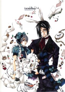 Rating: Safe Score: 16 Tags: alice_in_wonderland aria_(circle) ciel_phantomhive crossover kuroshitsuji male sebastian_michaelis shina_himetsuka thighhighs trap User: Radioactive