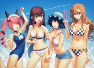 Rating: Questionable Score: 100 Tags: bikini cleavage faris_nyanyan kiryu_moeka koyama_hirokazu makise_kurisu school_swimsuit shiina_mayuri steins;gate swimsuits User: demonbane1349