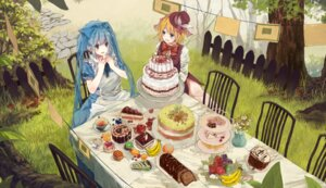 Rating: Safe Score: 34 Tags: alice_in_wonderland bou_shaku hatsune_miku kagamine_rin User: charunetra