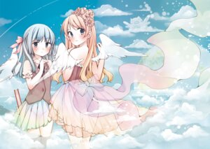 Rating: Questionable Score: 31 Tags: dress mocchida nopan see_through thighhighs wings User: blooregardo