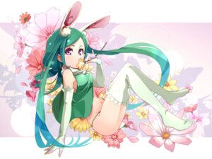 Rating: Safe Score: 35 Tags: animal_ears bunny_ears pomon_illust thighhighs thong User: Radioactive