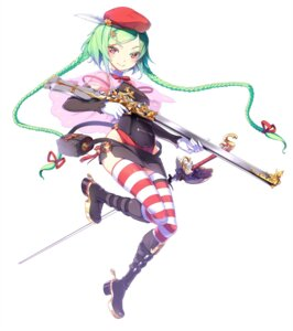 Rating: Questionable Score: 37 Tags: aoi_tsunami gun heels see_through sword thighhighs User: charunetra