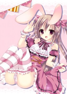 Rating: Questionable Score: 55 Tags: animal_ears bunny_ears dress himemiya_niina pantsu thighhighs User: blooregardo