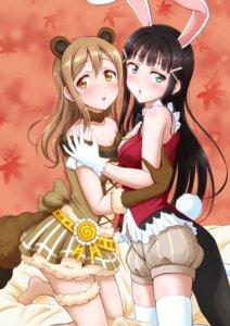 Rating: Safe Score: 16 Tags: animal_ears bunny_ears bunny_girl ckst cleavage garter kunikida_hanamaru kurosawa_dia love_live!_sunshine!! tail thighhighs User: RyuZU