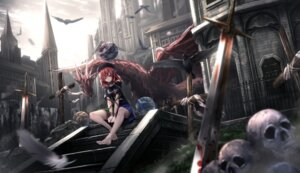 Rating: Safe Score: 51 Tags: blood bondage dark_souls hecatia_lapislazuli monster ryosios sword touhou User: Mr_GT