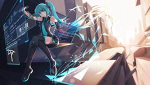 Rating: Safe Score: 42 Tags: aoikao hatsune_miku thighhighs vocaloid User: Mr_GT