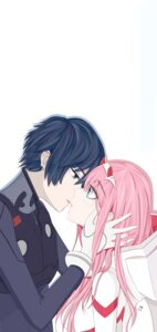 Rating: Safe Score: 2 Tags: asuka_hk bodysuit darling_in_the_franxx hiro_(darling_in_the_franxx) horns zero_two_(darling_in_the_franxx) User: 김도엽