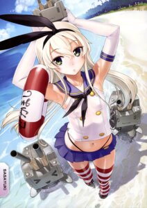 Rating: Safe Score: 63 Tags: kantai_collection rensouhou-chan sasayuki shimakaze_(kancolle) thong User: drop